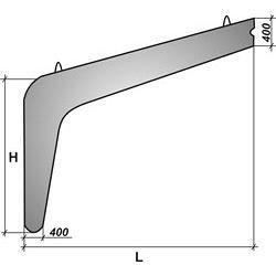 Залізобетонна полурама РПС21-5п
