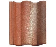 Цементно-песчаная черепица BRAAS Адрия Люмино красная с отливом