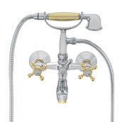 Смеситель для ванной HERZ Stil с настенным креплением хром-золото (UH07357)
