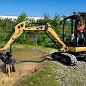 Строительство пруда мини-экскаватором Caterpillar 305E