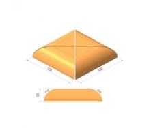 Крышка столбов Керамейя МАГМА Топаз Н/500 500х500х120 мм