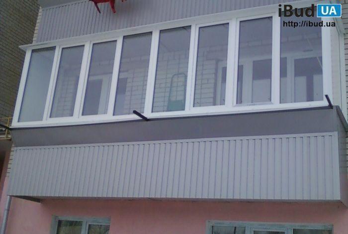 Обшивка балкона снаружи профнастилом