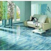 Дизайн интерьера дома с наливным полом под имитацию камня