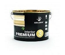 Латексна інтер'єрна фарба Kolorit Interior Premium 3 матова 10 л
