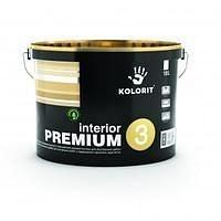 Латексная интерьерная краска Kolorit Interior Premium 3 матовая 10 л