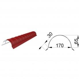 Планка конька полукруглая 2 м