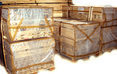 Комплекты коробки дверной уложенные на поддон для транспортировки
