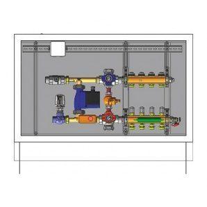 Шафа управління для систем підлогового опалення HERZ 9 відводів (3F53119)