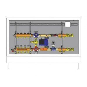 Шафа управління для систем підлогового опалення HERZ 6 відводів (3F53126)
