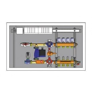 Шафа управління з термоприводами HERZ підключення зліва 6 відводів 230 В (3F53216)