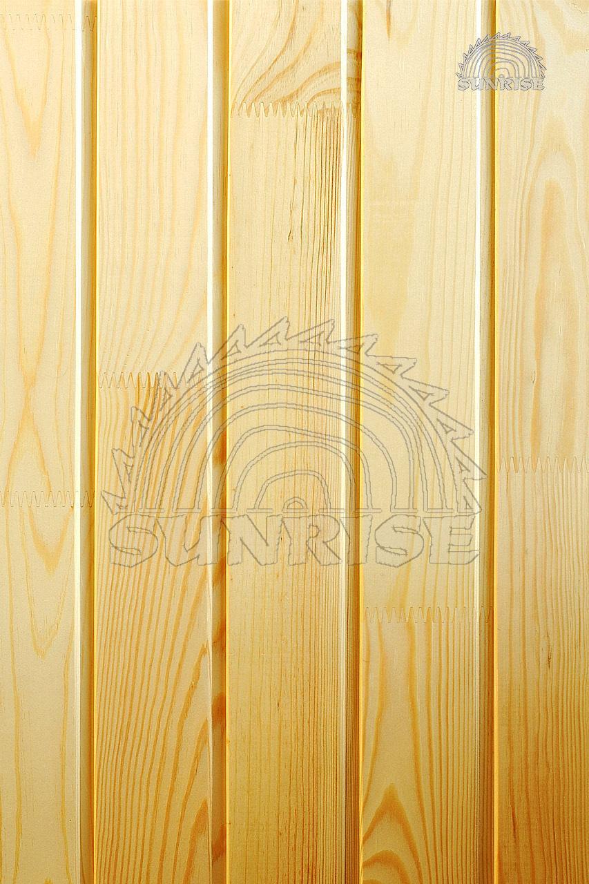 Вагонка деревянная сосновая - вертикальная укладка
