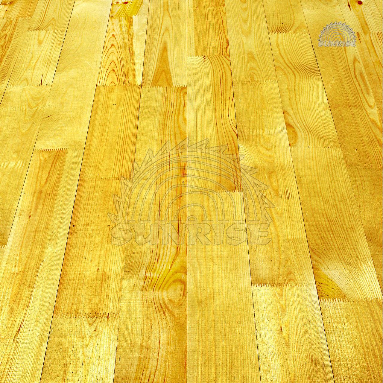 Дошка підлоги соснова зрощена - покладена на підлогу