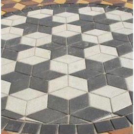 Тротуарна плитка Золотий Мандарин Ромб 150х150х60 мм сіра