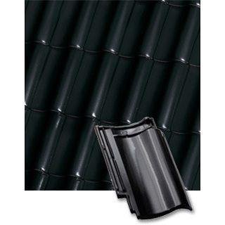 Черепица волновая Roben Bornholm тип S черно-коричневая глазурованная