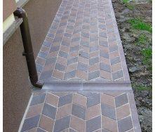 Отлив Золотой Мандарин на сером цементе 500х200х60 мм коричневый