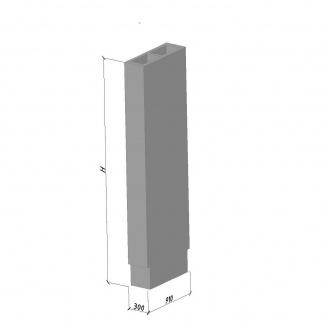 Вентиляционный блок ВБС-33-1 630*300*3280 мм