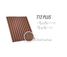 Металлопрофиль Т-12 Plus коричневый