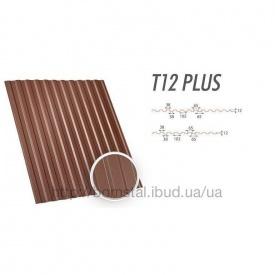 Металопрофіль Т-12 Plus коричневий