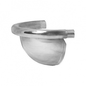 Заглушка желоба АКВАСИСТЕМ цинк-титан 125 мм полукруглая