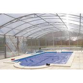 Павільйон для басейну з полікарбонату прозорий