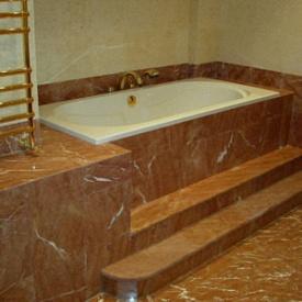 Облицовка ванной комнаты Анатолия Браун