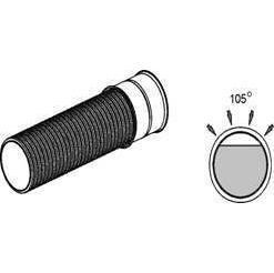 Труба гофрированная канализационная К2 110 мм