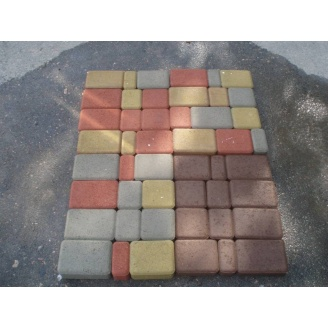 Плитка тротуарная вибропрессованная Старый город цветная