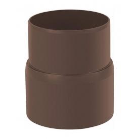 Муфта труби Альта-Профіль Стандарт 74 мм коричневий