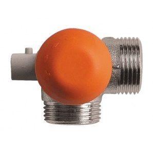 Термостатичний клапан HERZ TS-98-V триосьовий кутовий CD 3/4 дюйма (1764668)