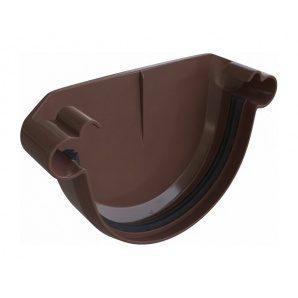 Заглушка ринви Альта-Профіль Еліт 125 мм коричневий