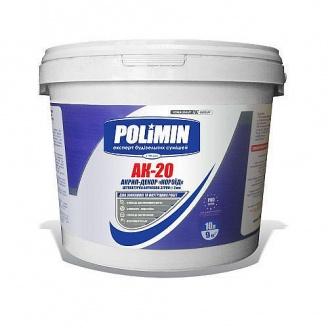 Штукатурка акриловая Polimin Акрил-декор АК-20 25 кг белая