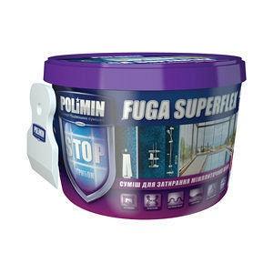 Эластичная смесь для швов Polimin Fuga superflex 2 кг светлый бежевый