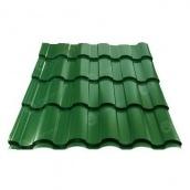 Металлочерепица Сталекс VALENCIA 350/20 0,45 мм PEMA Китай (Sutor Steel) (RAL6005/зеленый мох)