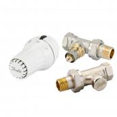 Комплект радіаторних терморегуляторів Danfoss RA-N, RAE-C, RLV-S прямий (013G5174)