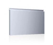 Фасадная кассета Ruukki Liberta elegant 500Grande 851*900*1800 мм (RAL7040/серое окно )