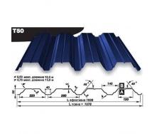 Профнастил несучий Pruszynski Т160 полиэстер 0,7*538*13600 мм Германия (RAL5002/ультрамариново-синий)