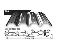 Профнастил несучий Pruszynski Т160 полиэстер 0,7*538*13600 мм Германия (RAL7024/серый графит)