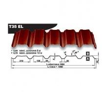Профнастил стеновой Pruszynski Т35ЕL полиэстер 0,7*1090*12000 мм Польша (RAL3011/коричнево-красный)