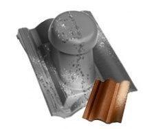 Круглый неутепленный вентиляционный элемент Terran Коппо 110 мм феррара