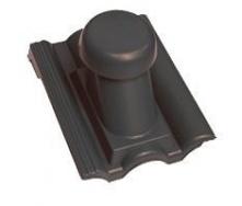 Круглий неутеплений вентиляційний елемент Terran Данубіа 110 мм карбон