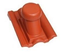 Круглый неутепленный вентиляционный элемент Terran Данубиа 110 мм кирпичный