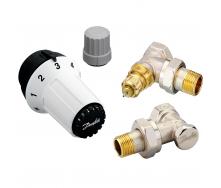 Комплект радіаторних терморегуляторів Danfoss RA-FN, RAS-C, RLV-S кутовий (013G5253)