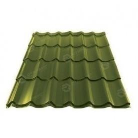 Металлочерепица Сталекс GRAND 0,45 мм PEMA Китай (Sutor Steel) (RAL6020/хромово-зеленый)