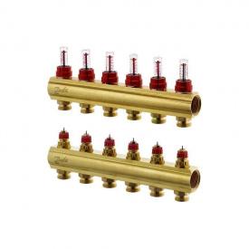 Распределительный коллектор Danfoss FHF-6F c ротаметрами (088U0526)
