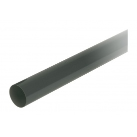 Труба водостічна з муфтою Nicoll 80 мм темно-сірий