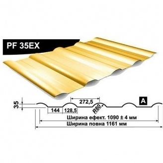 Профнастил стеновой Pruszynski PF 35EX полиэстер 1161 мм Германия (RAL1003/сигнально-желтый )