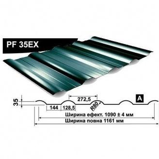 Профнастил стеновой Pruszynski PF 35EX мат полиэстер 1161 мм Польша (RAL6005/зеленый мох)