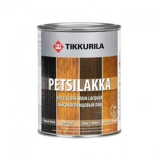 Алкидный лак Tikkurila Petsilakka 0,3 л черный (орех)