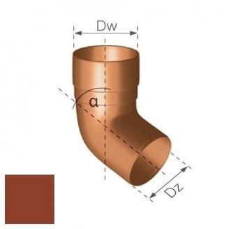 Коліно Gamrat 67,5° 90 мм цегляне