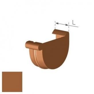 Заглушка права Gamrat 75 мм мідна